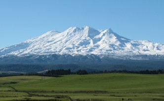Ruapehu Homestead mountain view